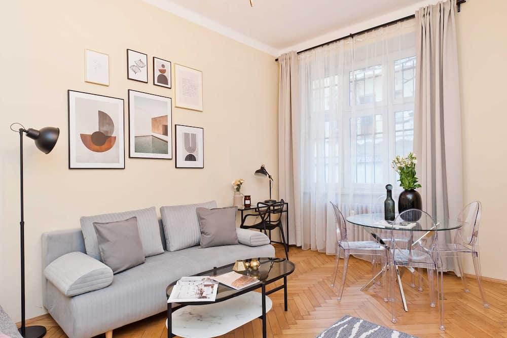 Pilsētklases mansarda numurs - Dzīvojamā istaba