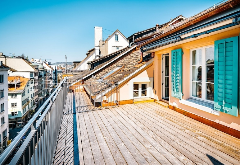 Luxury Residences by Widder Hotel, Zurich, Penthouse Maisonette Apartment - 3-Bedroom, Teres/Laman Dalam