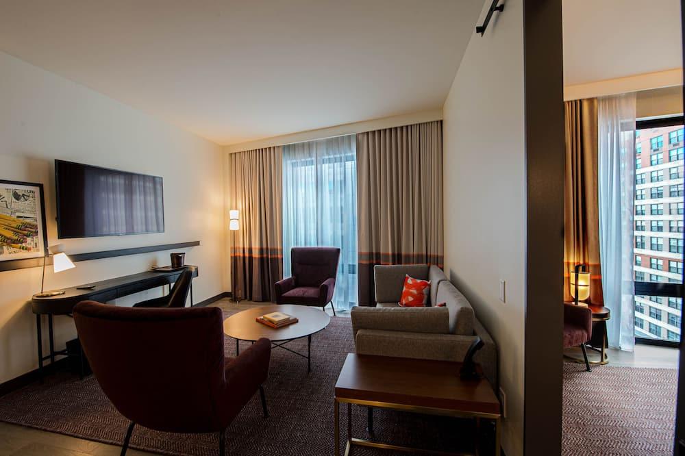 Štúdiový apartmán, 1 extra veľké dvojlôžko - Obývačka