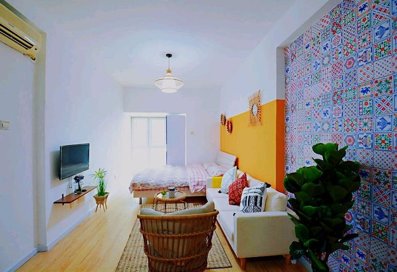 Avatar Color Large Queen Bed High Rise View Studio, Shenzhen, Habitación doble estándar, Sala de estar