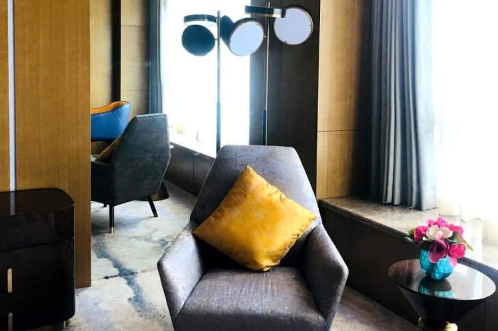Business-Doppelzimmer, Nichtraucher, Gartenblick - Wohnzimmer