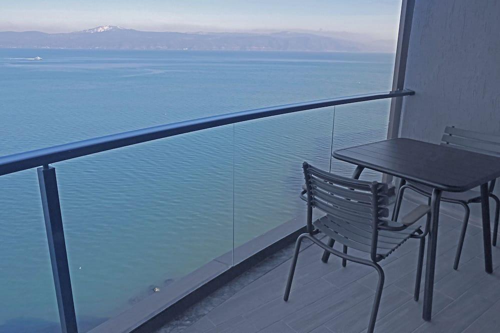 Executive-Zimmer, 1King-Bett und Schlafsofa, Meerblick - Blick vom Balkon