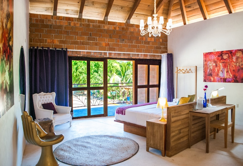 Hotel Pochote Mazunte, סנטה מריה טונאמקה, חדר דה-לוקס זוגי, מיטת קינג (Sebastian), חדר אורחים