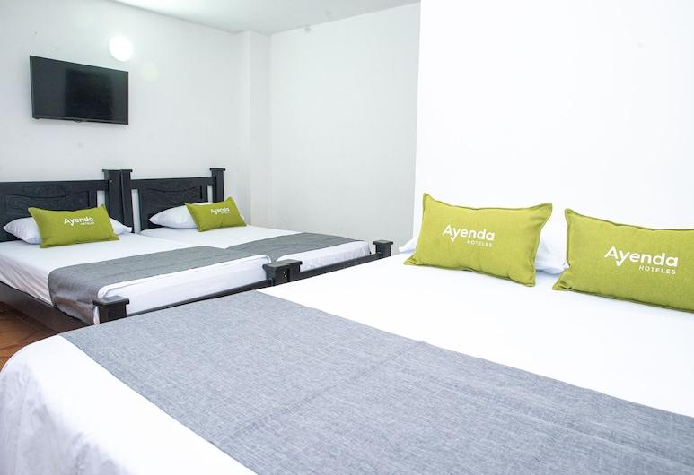 Ayenda 1609 Hotel Arrecife Caribeño, サンタ マルタ, スーペリア 4 人部屋, 部屋