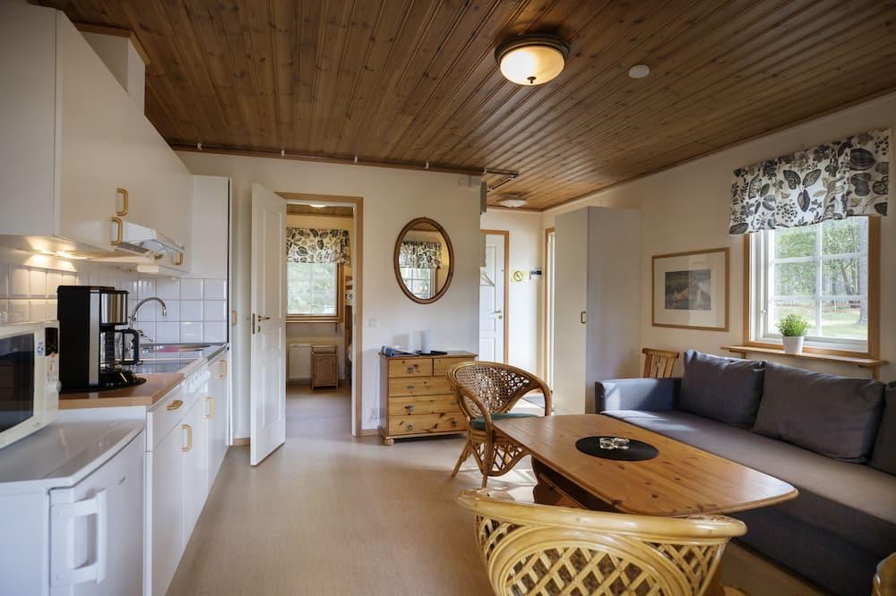 キャビン 共用バスルーム (Mellstastuga, Private WC) - リビング エリア