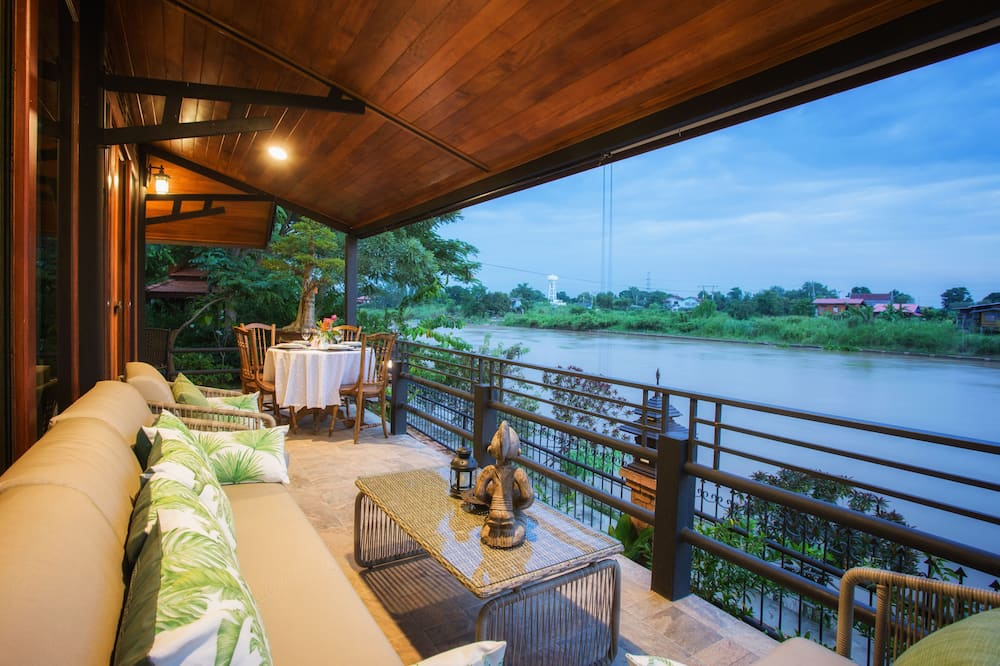 Japanese Villa With River View - Terrace/Patio