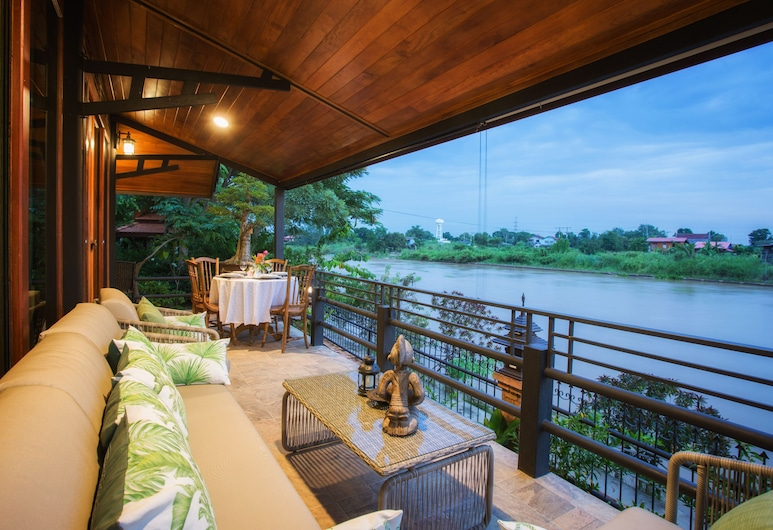 Cattani's Riverside Home, Ayutthaya, Japanese Villa With River View, Terasa / vidinis kiemas