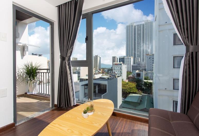 Xin Chao Apartment, ダナン, スーペリア スタジオ バルコニー シティビュー, 部屋からの景色