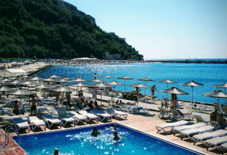 Stunning Beach Apart-sleeps 5! Pool & Sea Views!, Kavarna, アパートメント ベッド (複数台), プール