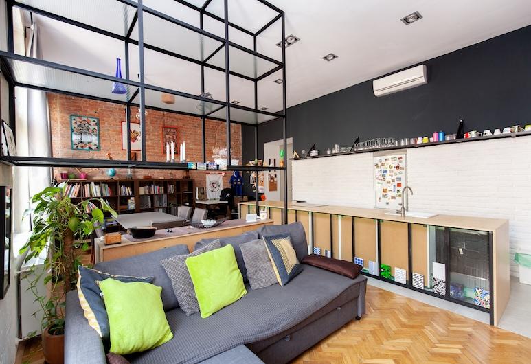 Logodi Castle Loft, Budapeszt, Apartament typu Design, Powierzchnia mieszkalna