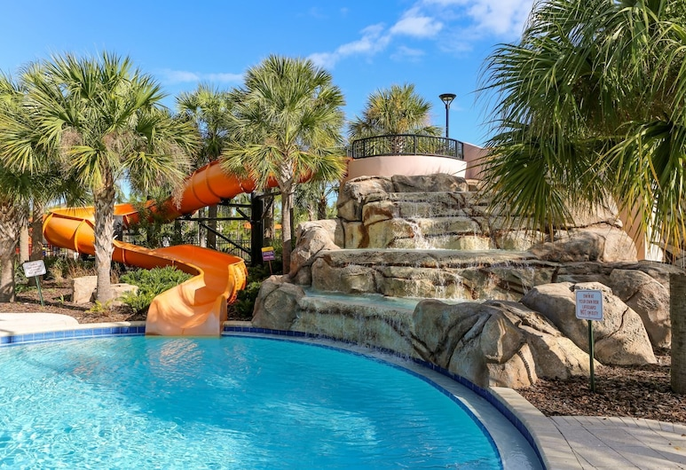 Tropical Luxury Near Disney! Professionally Decorated With Huge Pool, Game Room. 6bd/ 4.5ba #6st129, Davenport, Sundlaug