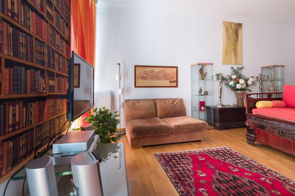 アパートメント 1 ベッドルーム テラス シティビュー - リビング エリア