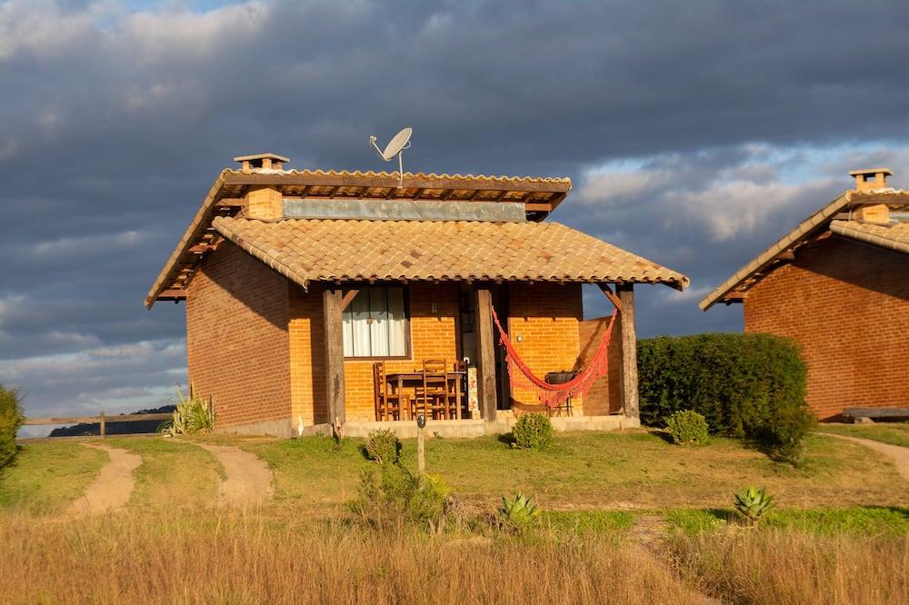 Planinska kuća - chalet, 1 bračni krevet i kauč na rasklapanje, natkriveni trijem, pogled na planinu - Balkon