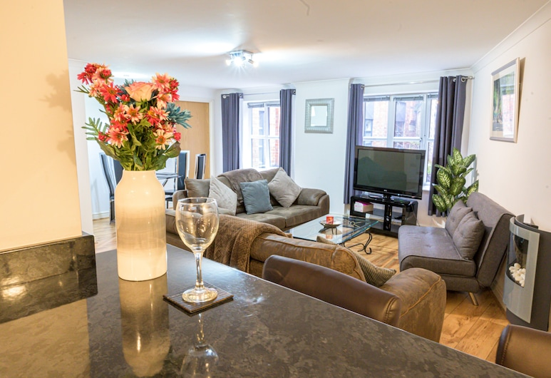 The Bookbinders Residence Leeds City Centre, Leeds, Apartment, 2 Bedrooms (Flat 4), Living Room