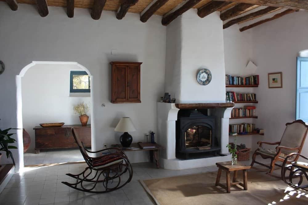 Habitación con 1 cama doble o 2 individuales, vista a la montaña - Sala de estar