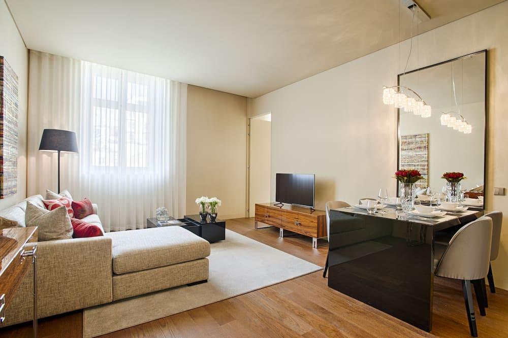 Apartmán typu Deluxe, 1 spálňa, nefajčiarska izba (8 Building) - Obývačka