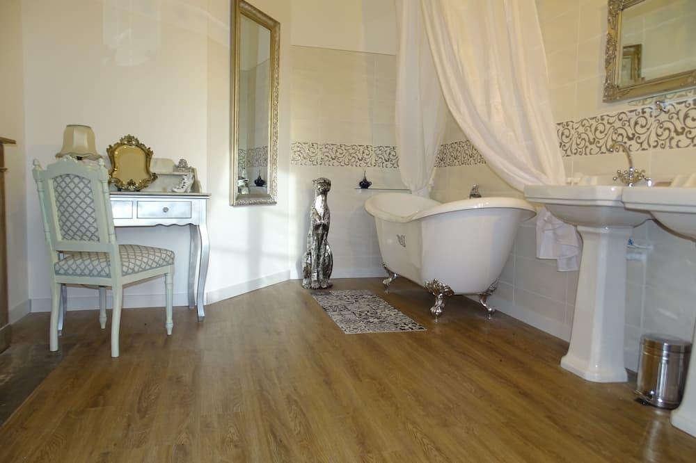Doppelzimmer, Gartenblick (Romantique) - Badezimmer