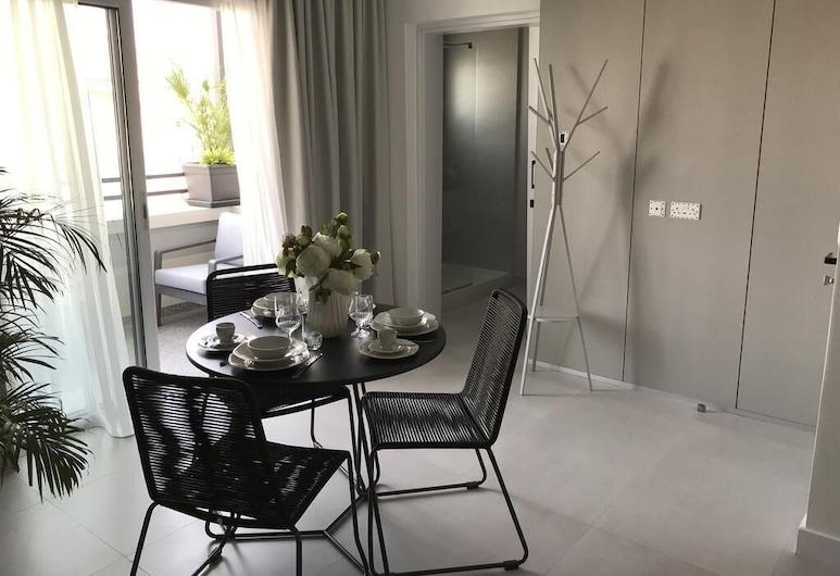 Levante Boutique Apartments, Larnaca, Apartment, 1 Bedroom, City View, Living Room