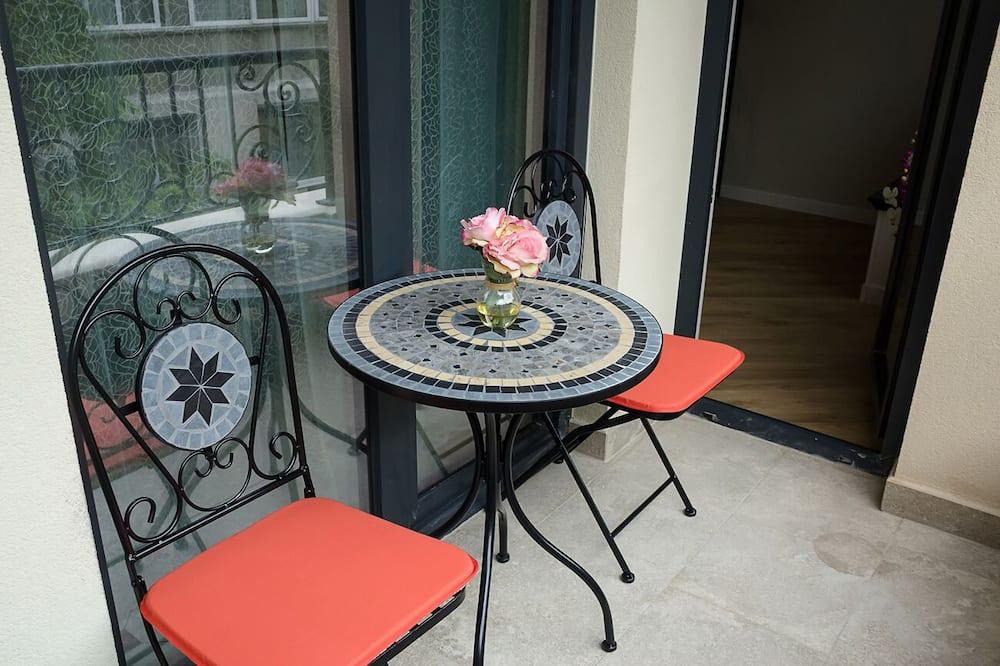 Leilighet – luxury, 1 soverom, balkong, utsikt mot byen - Balkong