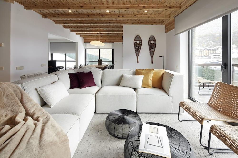 木屋, 4 間臥室, 露台, 山景 - 客廳