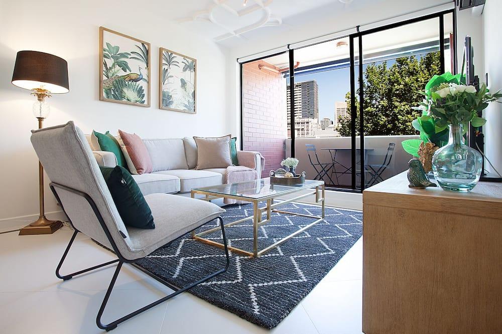 デザイン アパートメント 2 ベッドルーム - リビング エリア