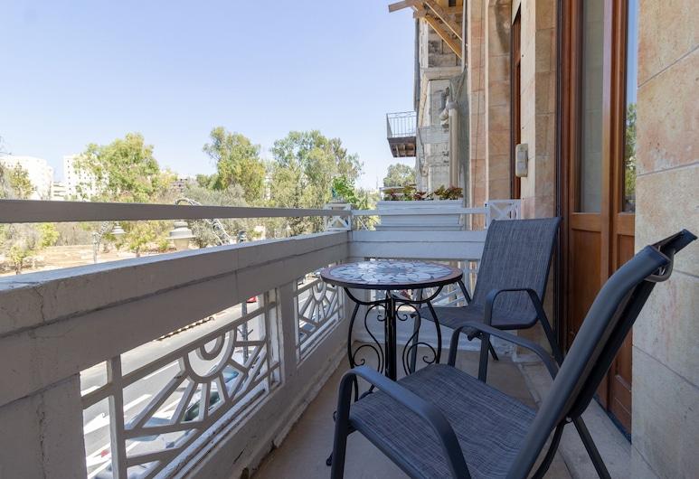 Art apartment in Mamila, Jerusalem, Design Apartment, Balcony