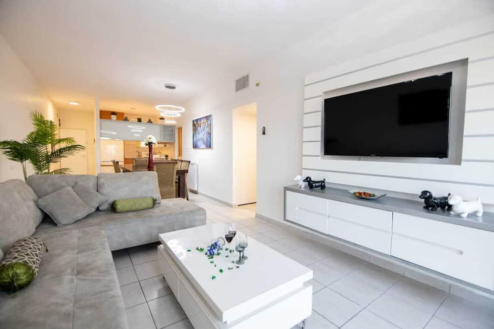 Design Apartment, City View - Ruang Tamu