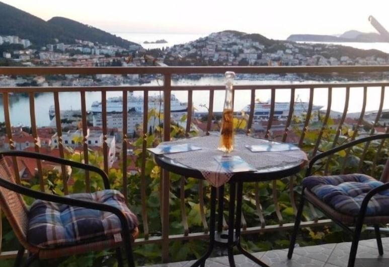 Guesthouse Zijo, Dubrovnik, Quarto casal ou duplo, Sacada, Vista para o mar, Varanda