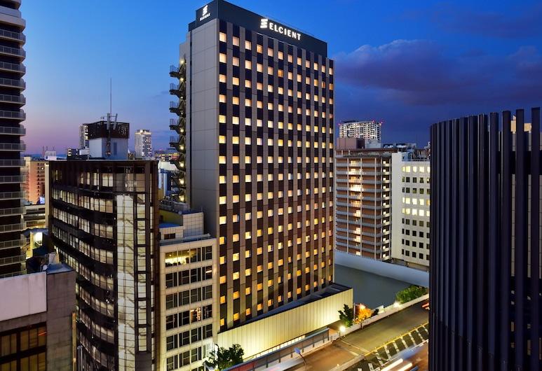 HOTEL ELCIENT OSAKA, Osaka, Fachada del hotel de noche