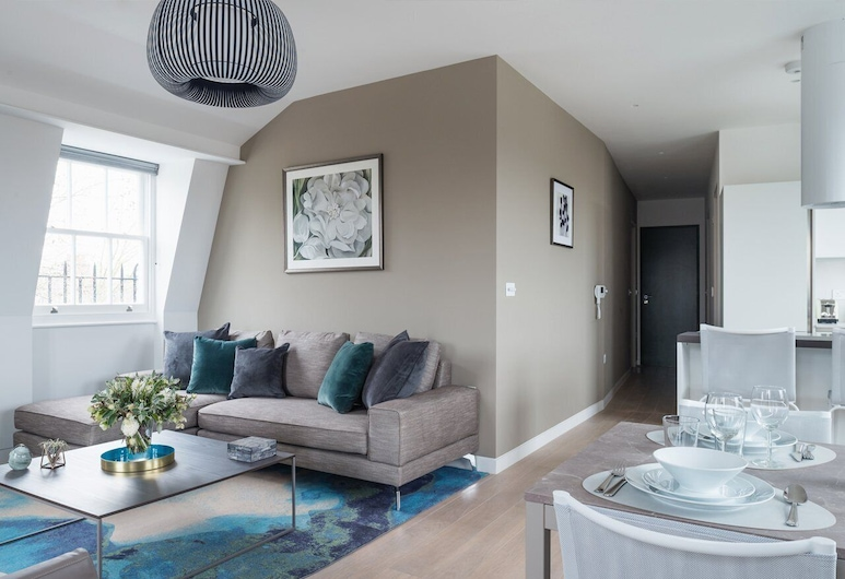 Mirabilis Apartments - Wells Court, 倫敦, 頂層客房, 2 間臥室, 客廳