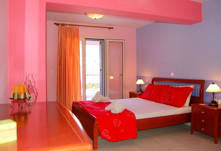 Alkyoni Studios & Apartments, Céphalonie, Studio Supérieur, 1 grand lit (1), Chambre