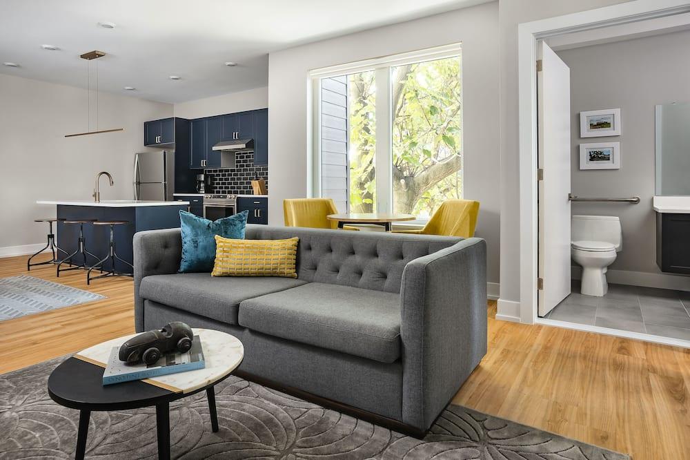 Design Süit, 1 Yatak Odası - Oturma Odası