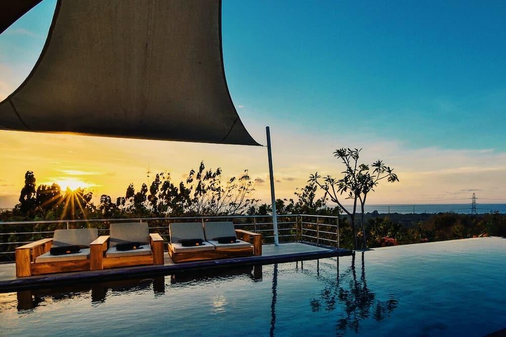 Luxusní vila, 3 ložnice, soukromý bazén, výhled na moře - Soukromý bazén
