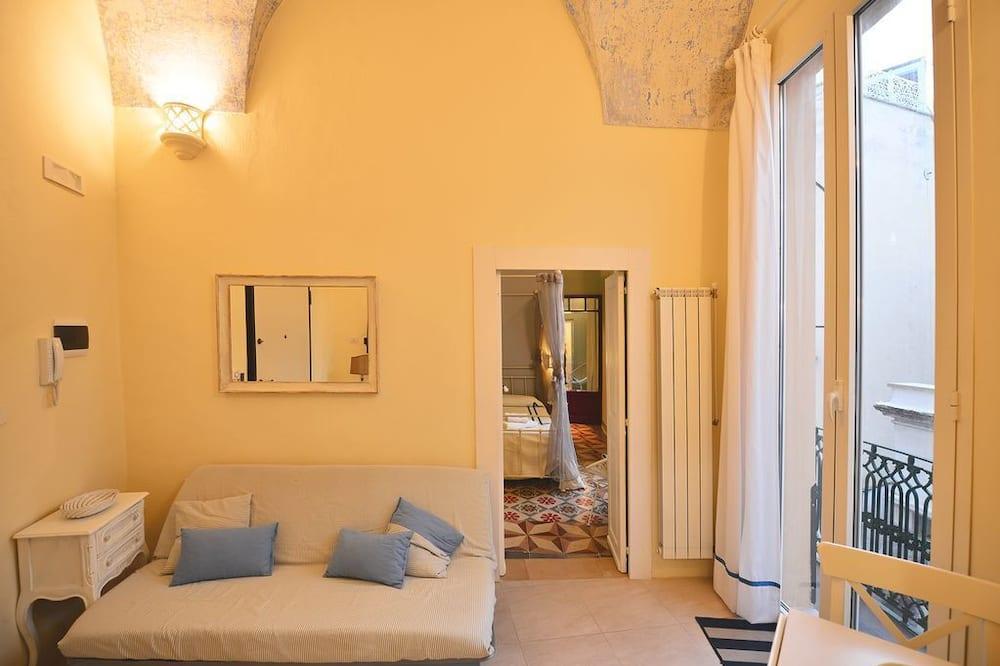 Superior appartement, 1 slaapkamer, terras, Uitzicht op de baai - Woonruimte