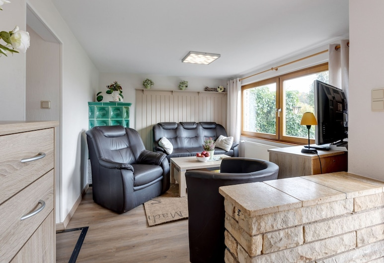 Holiday Home in the Thuringian Forest With Tiled Stove, Fenced Garden and Terrace, Wutha-Farnroda, Living Room