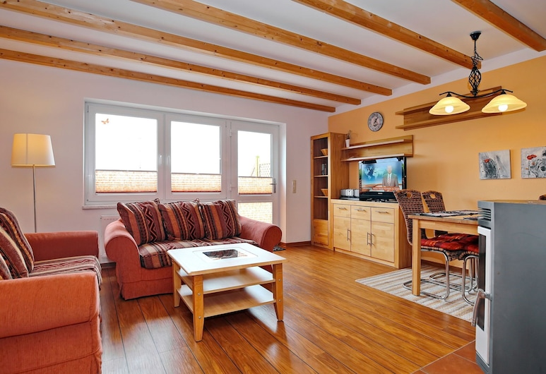 Pleasing Apartment in Kühlungsborn With Terrace, 庫龍斯堡, 客廳