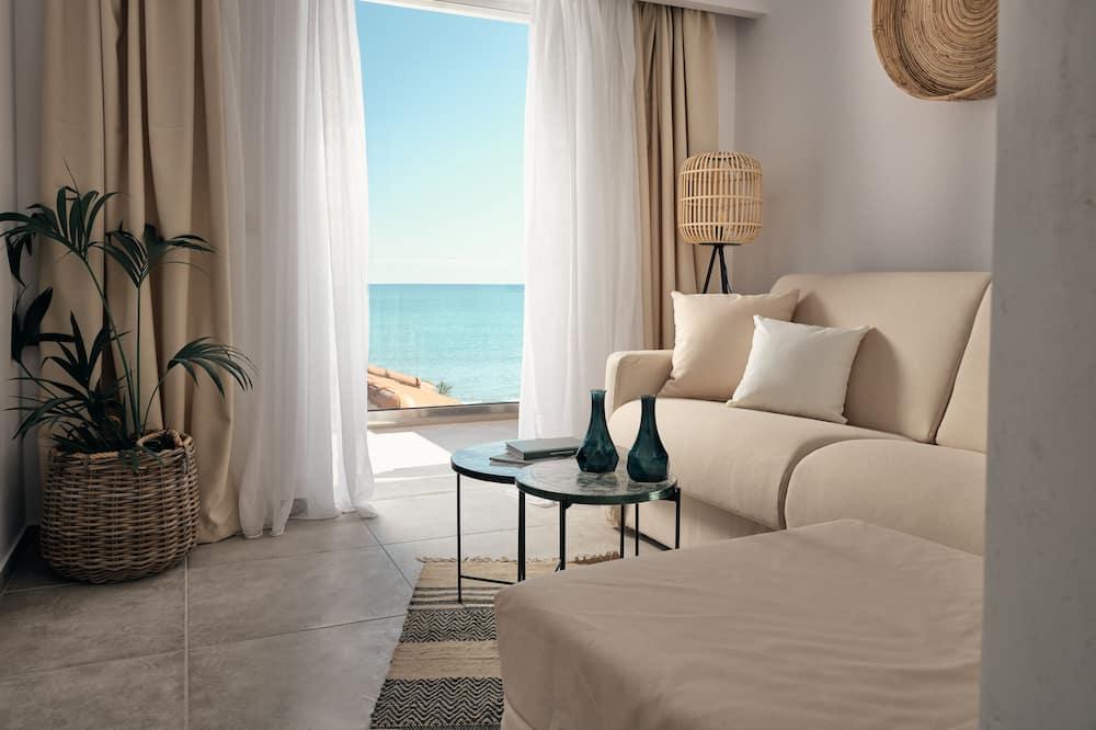 Superior suite, Uitzicht op zee - Woonkamer