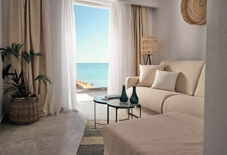 Shellona Rooms & Apartments, Zakynthos, Superior Suite, Sea View, Living Room