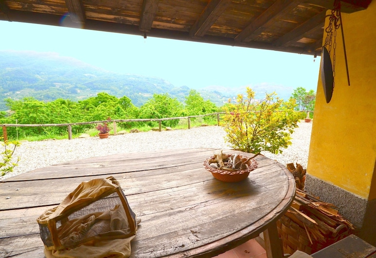Authentic Tuscan Country Home Situated Between Pistoia and Lucca, Pescia, Huvila, Parveke