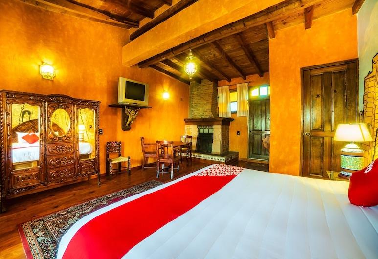OYO Hotel El Mineral, Tlalpujahua, Superior Room, Bilik Tamu