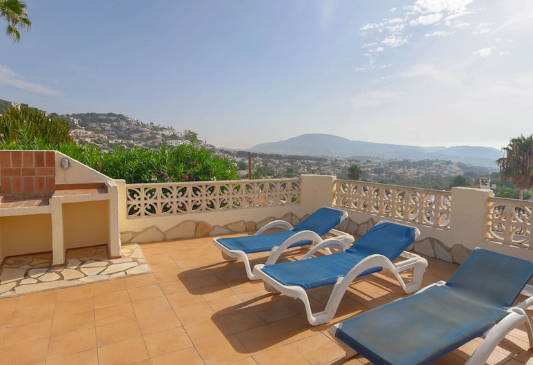 Detached House on a Single Floor With Magnificent View Near Moraira, Teulada, Balkoni