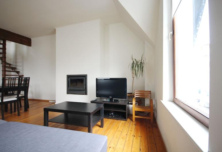 Large Duplex Châtelain, BRUSEL, Apartmán typu City, Obývacie priestory