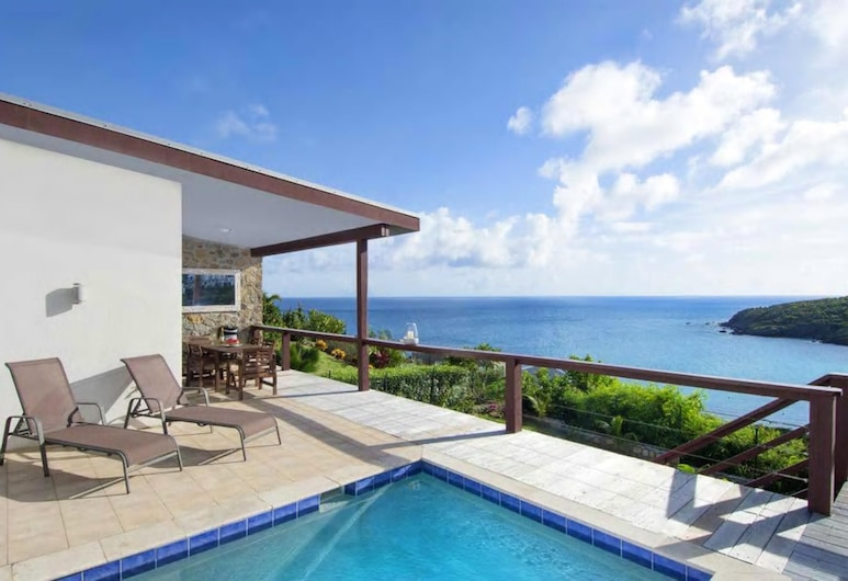 Villa With 3 Bedrooms in Sint Maarten, With Wonderful sea View, Private Pool, Terrace - 200 m From the Beach, Philipsburg, Pool