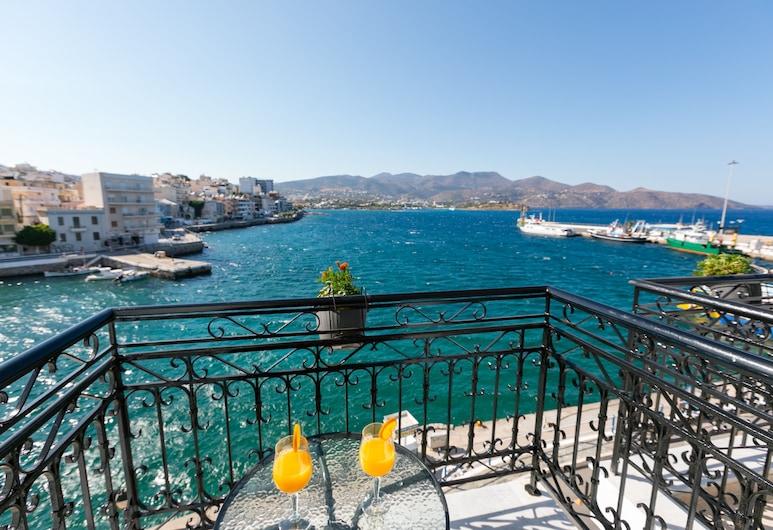 Hotel Port 7, Ayios Nikolaos, Habitación con 1 cama doble o 2 individuales, vista al mar, Balcón