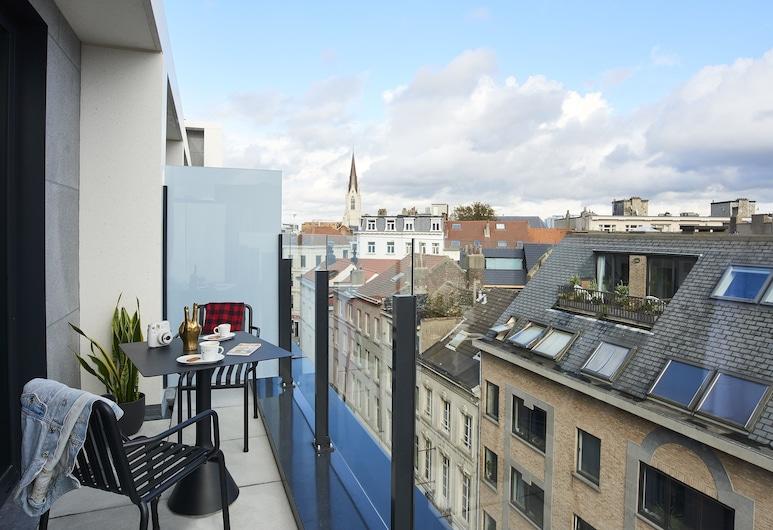 Moxy Brussels City Center, Bruxelles, Værelse - 1 queensize-seng - ikke-ryger - balkon (High Floor), Terrasse/patio