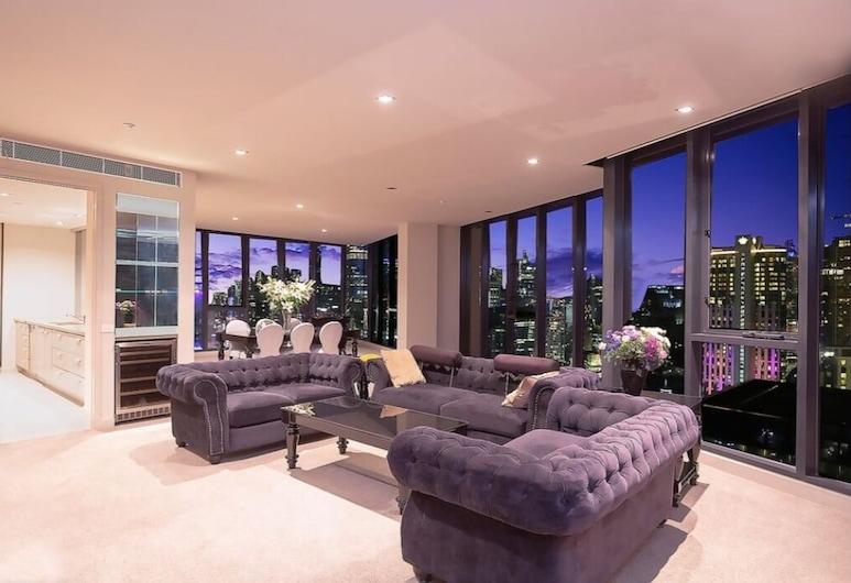 Sanctuary Apartments - Vue Grande, Southbank, Luxury Penthouse, Living Area