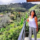 Honeymoon huisje, 1 kingsize bed, uitzicht op vallei, Uitzicht op gebergte - Balkon