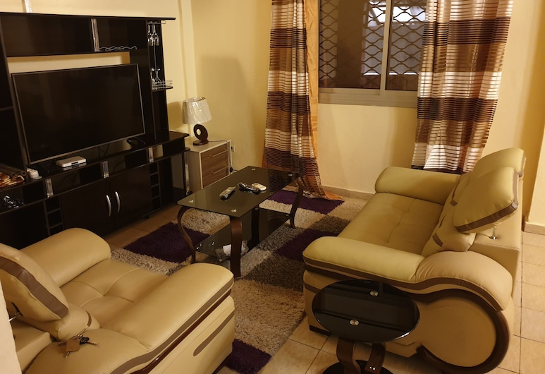Makepe St Tropez Apartments - Orange Cam, Douala, Leilighet – comfort, Stue