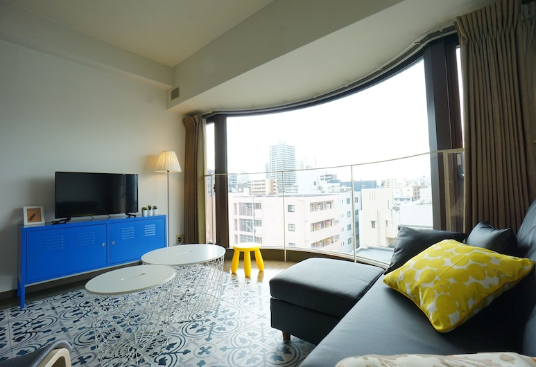 Terry's Apartment Shinsaibashi East I G11A, 大阪, 公寓, 客廳