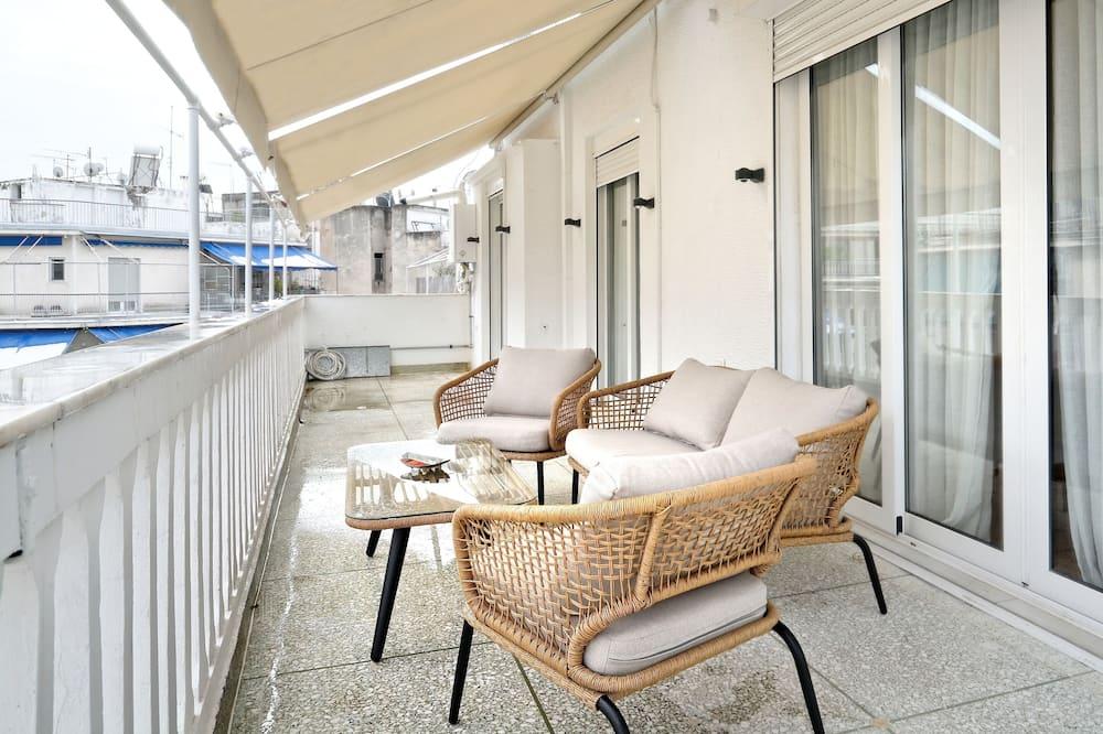 Departamento Deluxe, 4 habitaciones, terraza, vista a la ciudad - Balcón